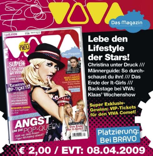 Viva - Das Magazin - Werbung für Heft 4/2009